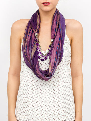 Jewerly Watercolor Stripe Scarf