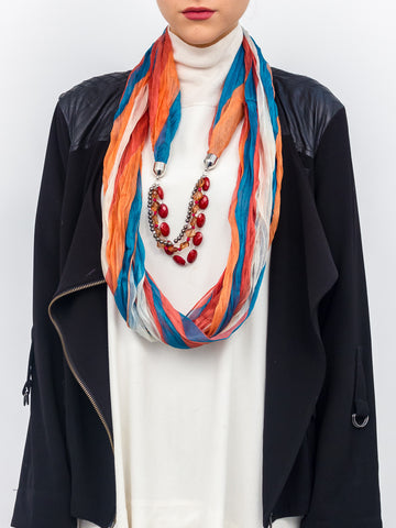 Jewelry Striped Tonal Scarf - Just Jamie