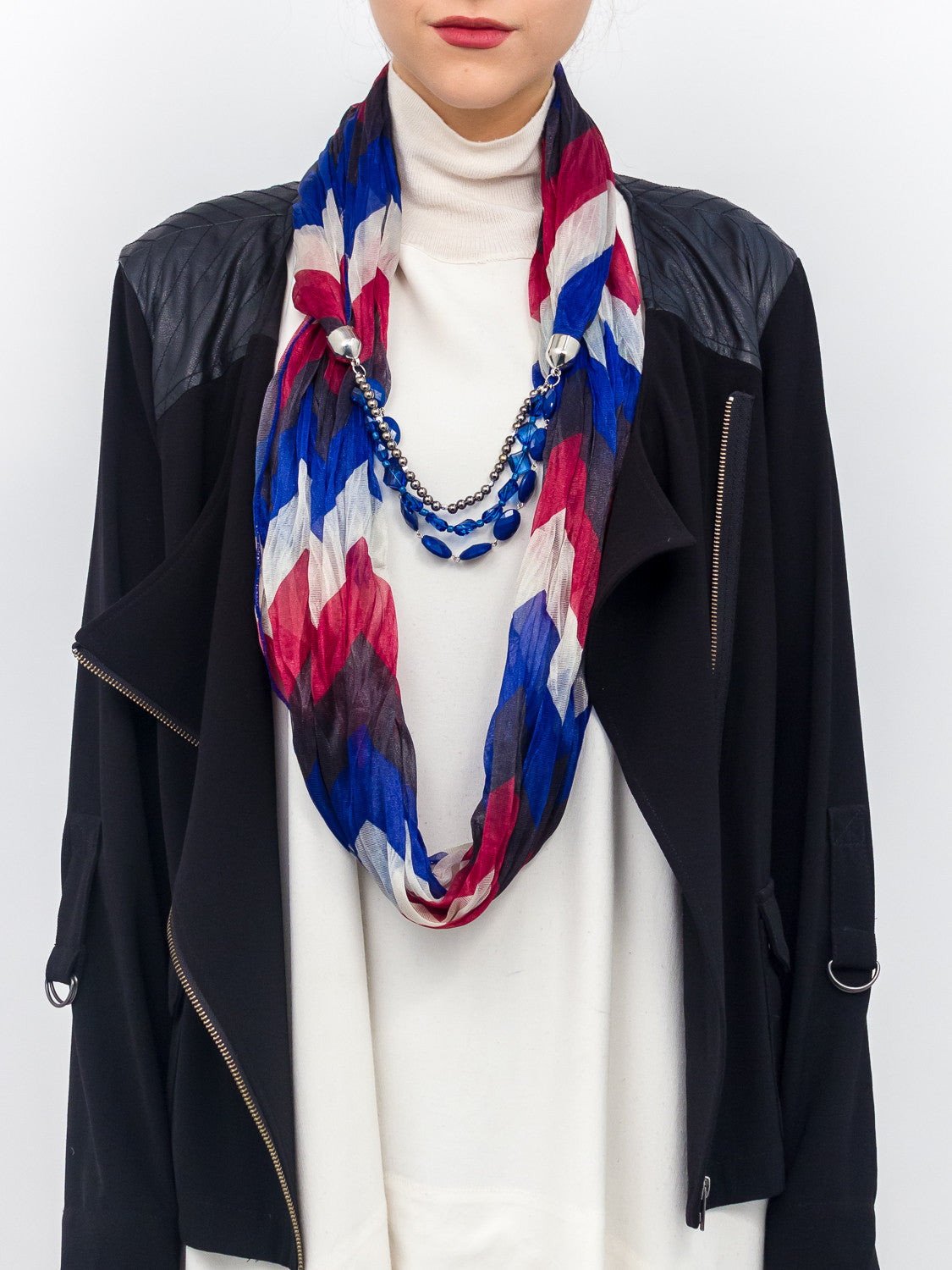 Jewelry V Stripe Scarf - Just Jamie