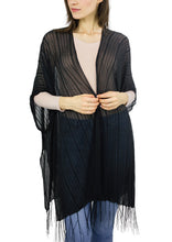 Load image into Gallery viewer, Slinky Solid Fringe Kimono - Just Jamie