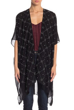 Load image into Gallery viewer, Tile Rhinestone Dressy Kimono - Just Jamie