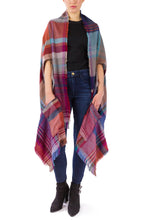 Load image into Gallery viewer, Plaid Blanket Wrap Kimono with Pockets - Just Jamie