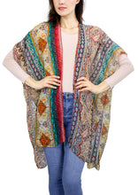 Load image into Gallery viewer, Boho Paisley Kimono with Rhinestones - Just Jamie