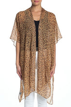 Load image into Gallery viewer, Leopard Kimono with Red Stones - Just Jamie