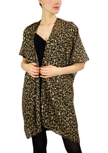 Animal Kimono with Gold Foil - Just Jamie