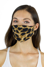 Load image into Gallery viewer, Leopard / Solid Black / Zebra Face Covering - 3pc pack - Just Jamie
