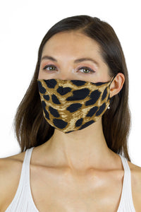 Leopard / Solid Black / Zebra Face Covering - 3pc pack - Just Jamie