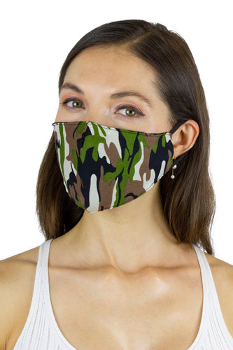Camo / Solid Black / Animal Face Covering - 3pc pack - Just Jamie