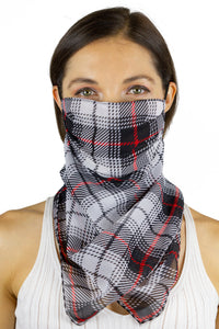 Plaid Bandana Face Covering - Just Jamie