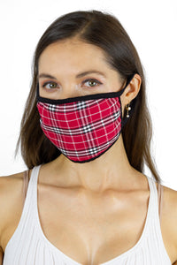 Plaid Face Mask Covering - Just Jamie