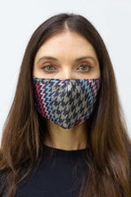 Load image into Gallery viewer, Houndstooth Chevron Face Mask - Just Jamie