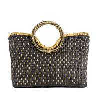 Load image into Gallery viewer, Woven Straw Bag with Circular Handle - Just Jamie