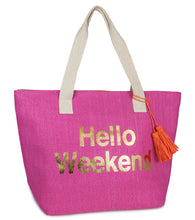 Load image into Gallery viewer, Hello Weekend Insulated Tote Bag - Just Jamie