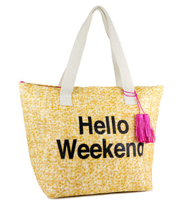 Hello Weekend Insulated Tote Bag - Just Jamie