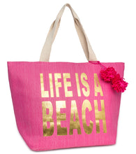 Load image into Gallery viewer, Life is a Beach Tote Bag - Just Jamie