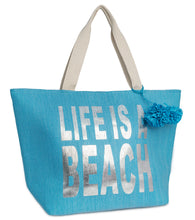 Load image into Gallery viewer, Life is a Beach Insulated Tote Bag - Just Jamie