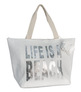 Life is a Beach Insulated Tote Bag - Just Jamie