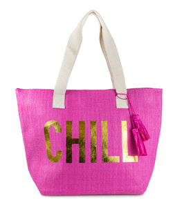 Chill Tote with Tassels - Just Jamie