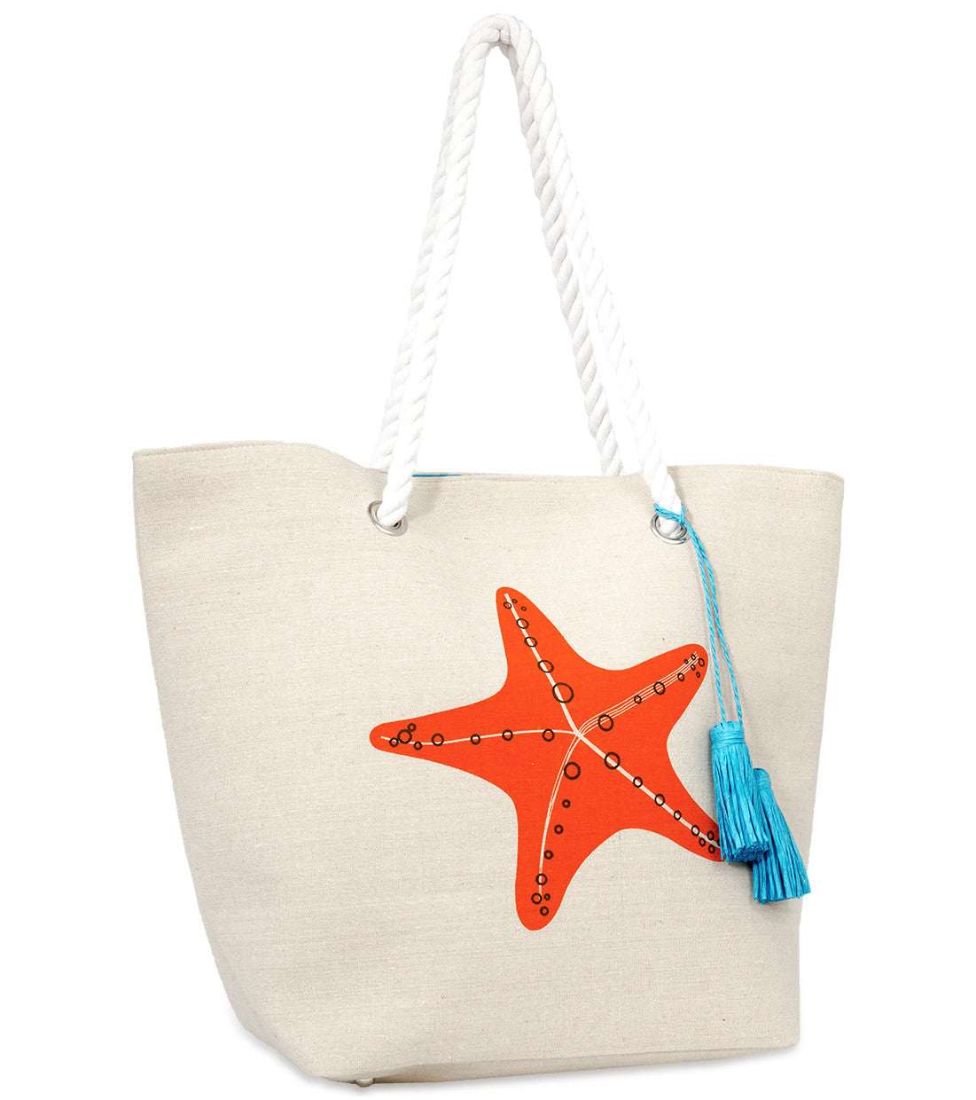 Graphic Tote with Tassel Charm - Just Jamie