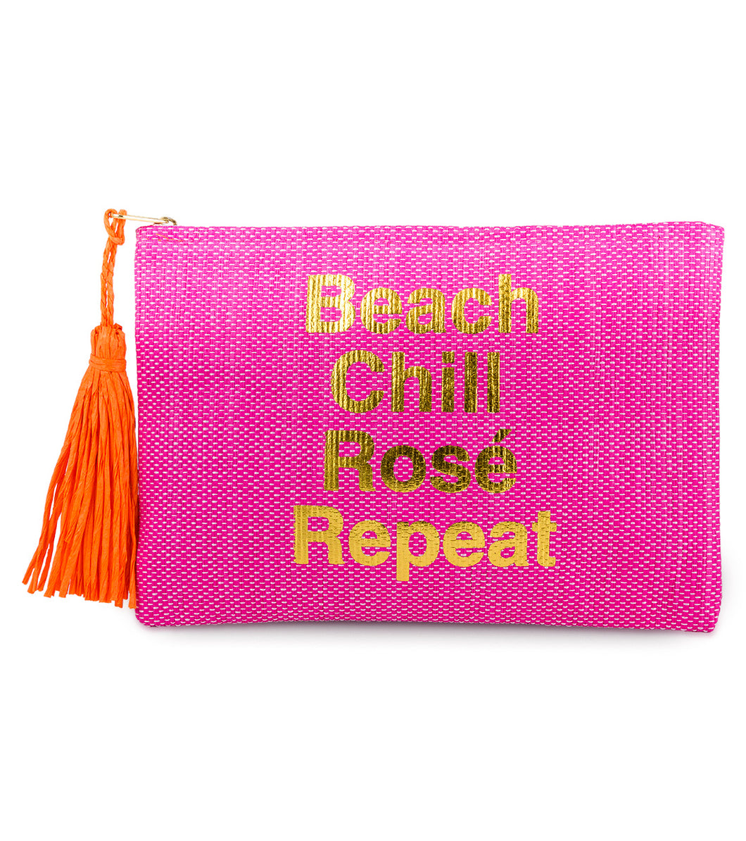 Beach, Chill, Rose, Repeat Clutch - Just Jamie
