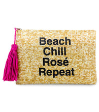 Load image into Gallery viewer, Beach, Chill, Rose, Repeat Clutch - Just Jamie