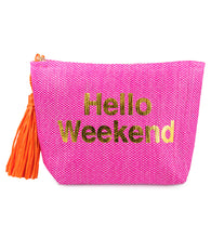 Load image into Gallery viewer, Hello Weekend Paper Straw Bag - Just Jamie