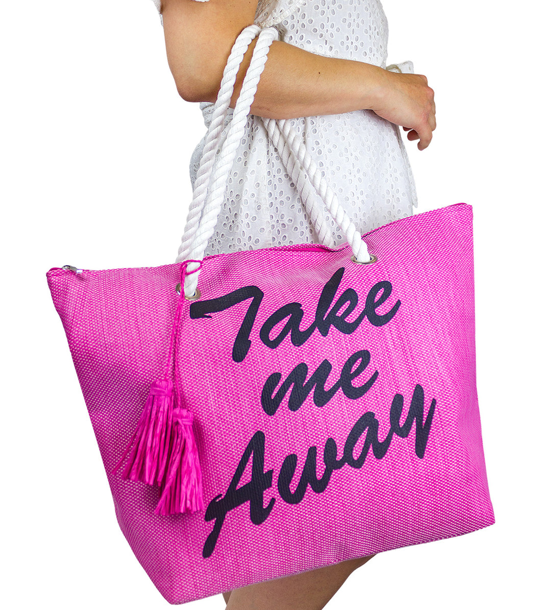 Take me Away Beach Tote - Just Jamie