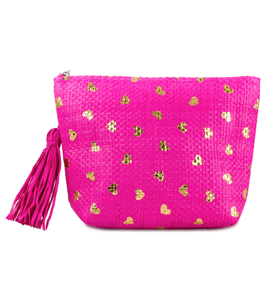 Metallic Heart Paper Straw Pouch - Just Jamie