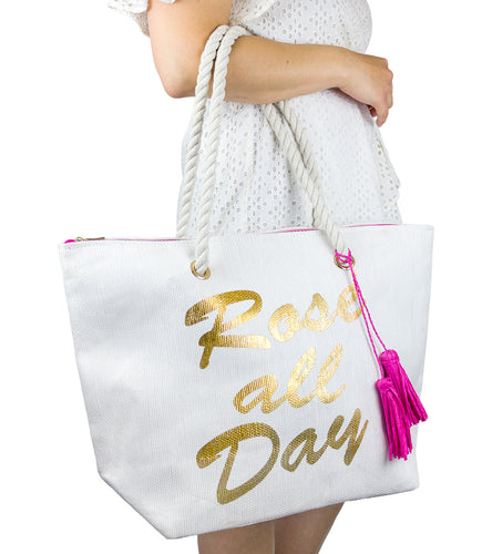 Rose All Day Beach Tote - Just Jamie