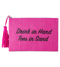 Load image into Gallery viewer, Drink in Hand Toes in Sand Clutch - Just Jamie