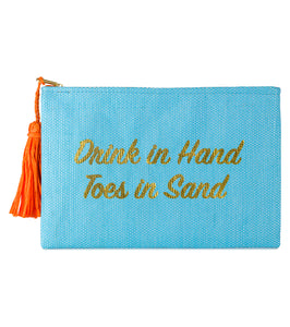 Drink in Hand Toes in Sand Clutch - Just Jamie