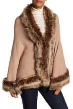 Load image into Gallery viewer, Faux Fur Border Solid Shawl - Just Jamie