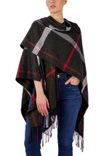 Load image into Gallery viewer, Supersoft Plaid Ruana with Lurex - Just Jamie