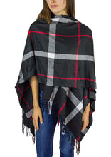 Load image into Gallery viewer, Supersoft Plaid Ruana - Just Jamie