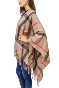 Supersoft Plaid Ruana - Just Jamie
