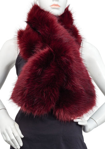Faux Fur Pull Through Scarf
