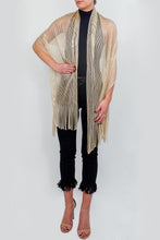 Load image into Gallery viewer, Open Weave Metallic Dressy Wrap - Just Jamie