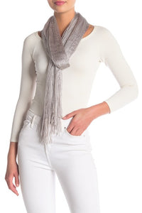 Open Weave Metallic Dressy Wrap - Just Jamie