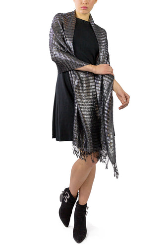 Pleated Wave Dressy Wrap - Just Jamie