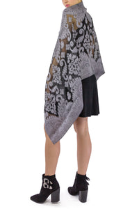 Burnout Brocade Dressy Wrap - Just Jamie