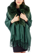 Load image into Gallery viewer, Solid Shawl with Oversized Faux Fur Border - Just Jamie