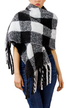 Load image into Gallery viewer, Buffalo Plaid Noodle Fringe Scarf - Just Jamie