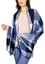 Load image into Gallery viewer, Plaid Metallic Shawl - Just Jamie