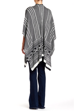 Load image into Gallery viewer, Geometric Stripe Print Knit Ruana - Just Jamie