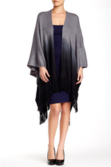 Cashmere Feel Ombre Ruana - Just Jamie