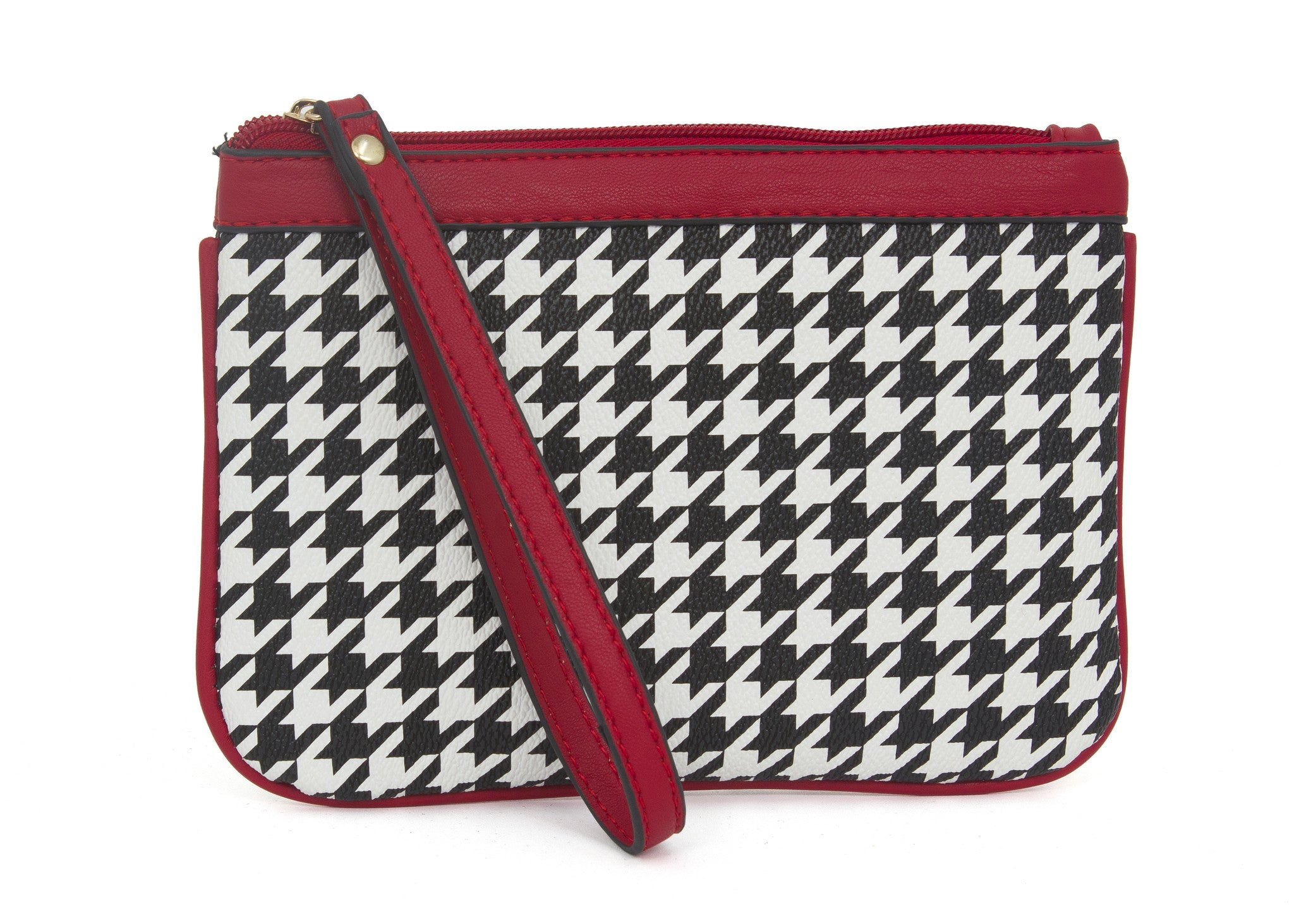 Houndstooth Wristlet - Just Jamie
