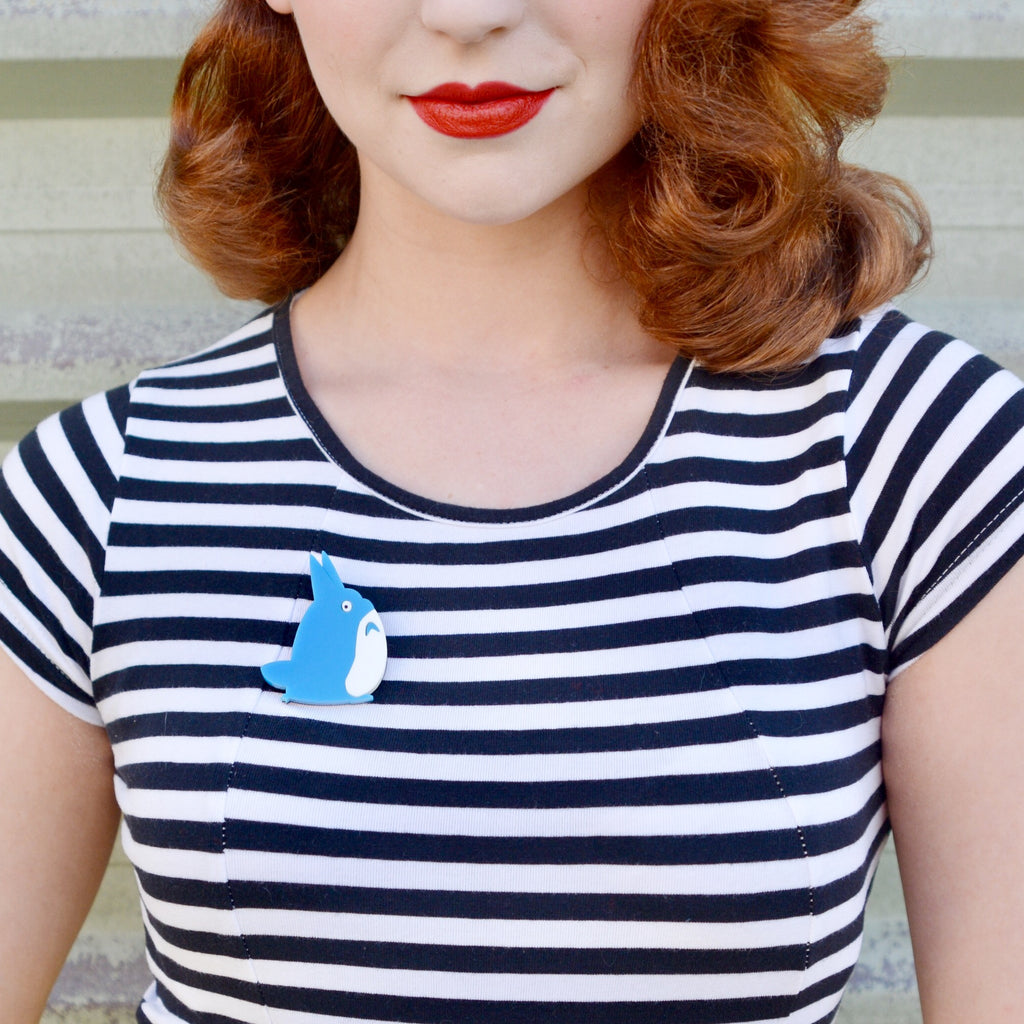Miss Hero Holliday modelling our Chu Totoro brooch