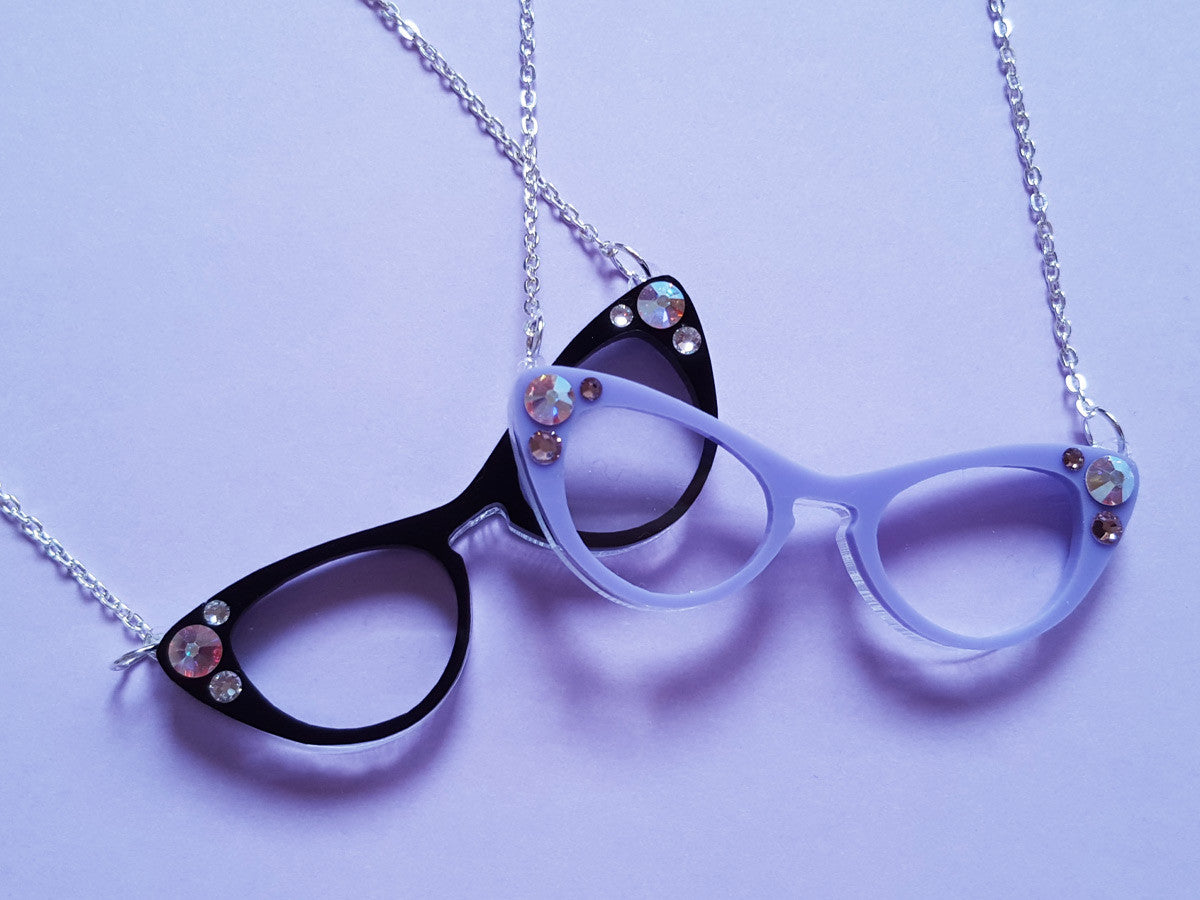 Cat Eyes Necklace - Glitterbomb - 4