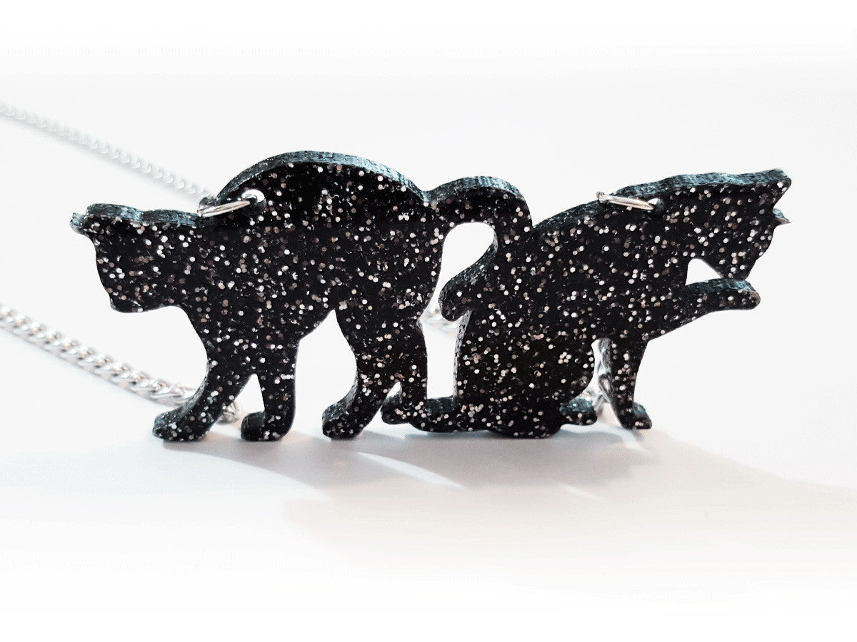 Couple of Cats Necklace - Glitterbomb - 2