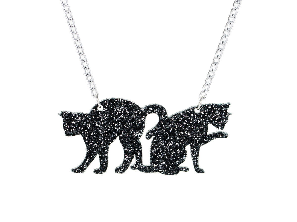 Couple of Cats Necklace - Glitterbomb - 1